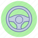 driving, game, gaming, steering, wheel icon