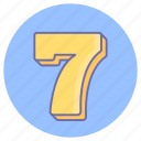 game, gaming, number seven, seven, seven stage, seventh stage icon