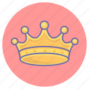 crown, game, gaming, jewel, king, monarch, reward icon