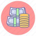cash, currency, dollar, game, gaming, money, payment icon