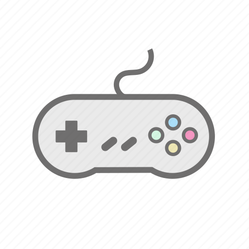 console, controller, gaming, nintendo, retro, snes, super nintendo icon
