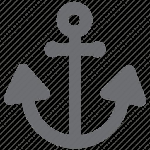 anchor, aquatic, boats, gray, marina, marine, sea icon