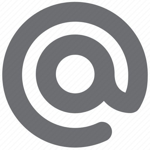 at, email, gray icon