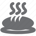 baked, bread, food, food and drink, gray, restaurant icon