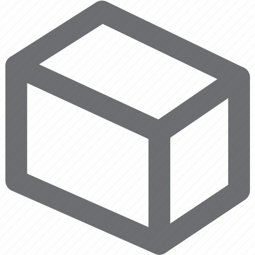 box, gray, prism, shipping icon