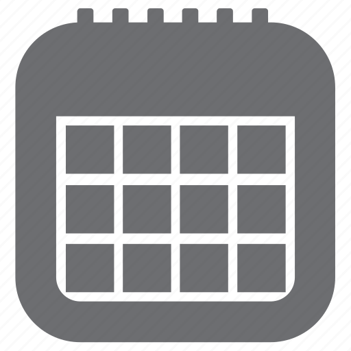 appointment, calendar, date, gray, time icon