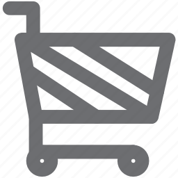 cart, checkout, gray, shopping, shopping cart icon