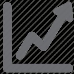 analytics, business, chart, gray, profit icon