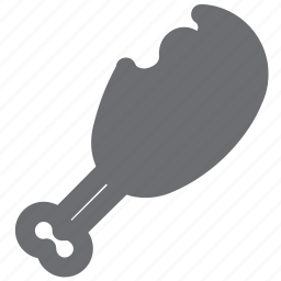 chicken, food, food and drink, gray, meat, restaurant, yum icon
