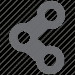 connect, gray, logistics, share, url icon