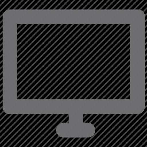 computer, desktop, gray, tech icon