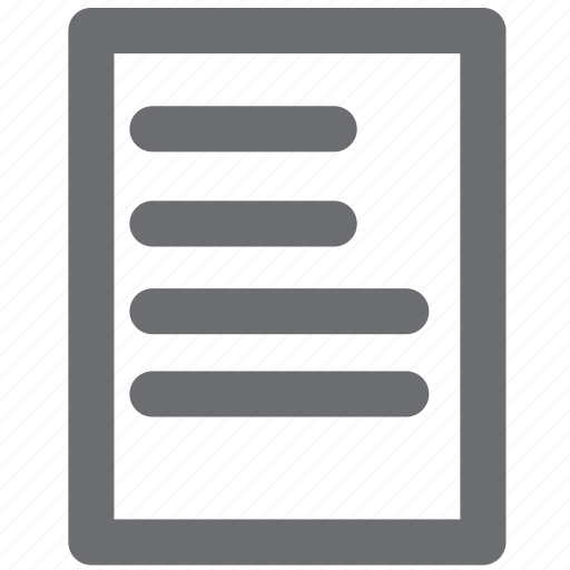 document, gray, legal, list, paper icon