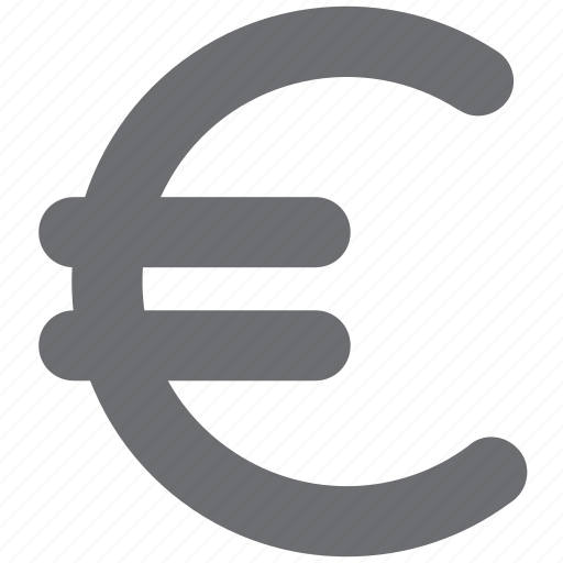 currency, eud, euro, gray, money, payment icon
