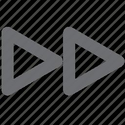audio, fast forward, fastforward, gray, video icon