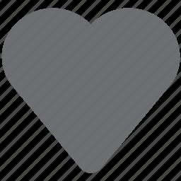 favorite, gray, heart, heartfull, like, love icon