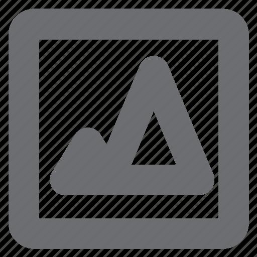 attachment, gray, image, picture icon