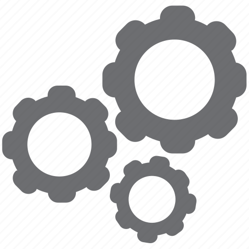 analytics, edit, gears, gray, logistics, settings icon
