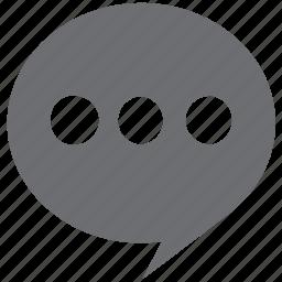 gray, message, messenger, speech, text icon