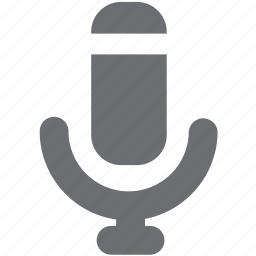 audio, gray, mic, microphone, record icon