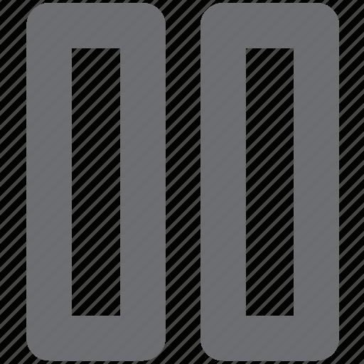 audio, gray, media, pause, video icon