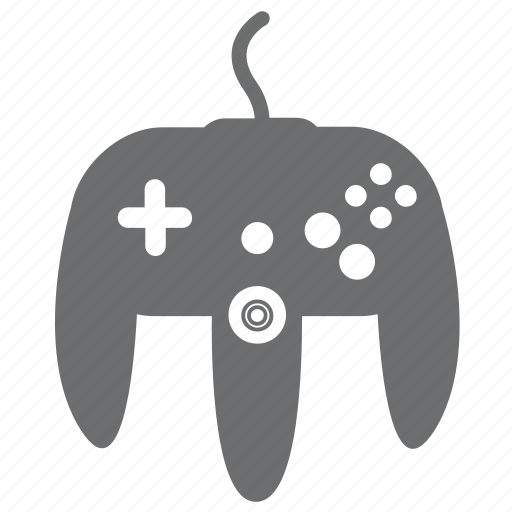 entertainment, gray, media, n64, player2, video games icon