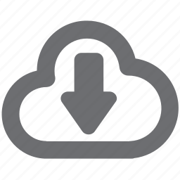 cloud, download, gray, guardar, save, savefromcloud icon
