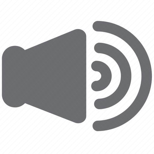 audio, gray, loud, max, soundmax, video, volume icon