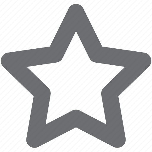 favorite, gray, space, star, unfavorite icon