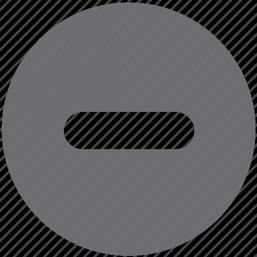 delete, gray, remove, subtract, subtractfull icon