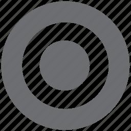bullseye, gray, target icon