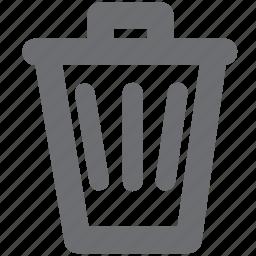 delete, garbage, gray, trash icon