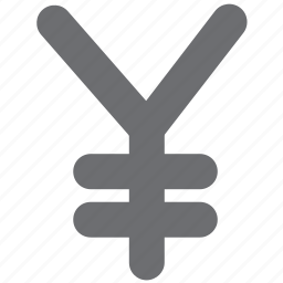 currency, gray, japan, pay, payment, yen icon