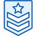 achievment, badge, gaming, serjant icon