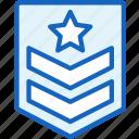 achievment, badge, gaming, serjant icon