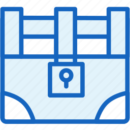 chest, gaming, treasure icon