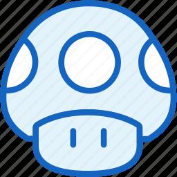 gaming, mario, mushroom icon