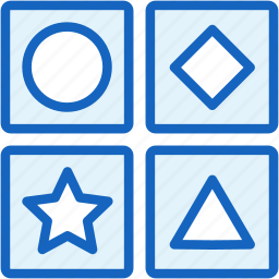 figures, game, gaming, shapes icon