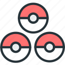 gaming, poke, pokeballs, pokemon icon