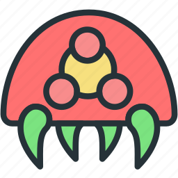 cell, gaming, metroid icon