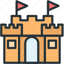 castle, gaming, goal, level icon