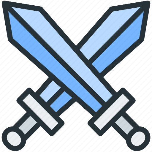fight, gaming, knight, swords icon