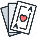 cards, game, gaming, hands icon