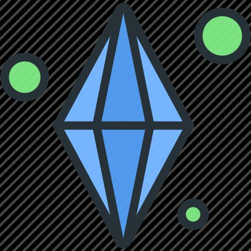 crystal, fantasy, gaming, guardar, save, saving icon