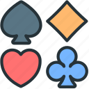 cards, game, gaming, play, suit icon