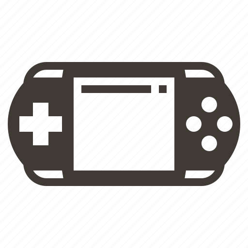 game, gaming, handheld, solid, video icon