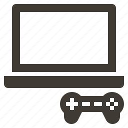 game, gaming, handheld, joystick, notebook, solid, video icon