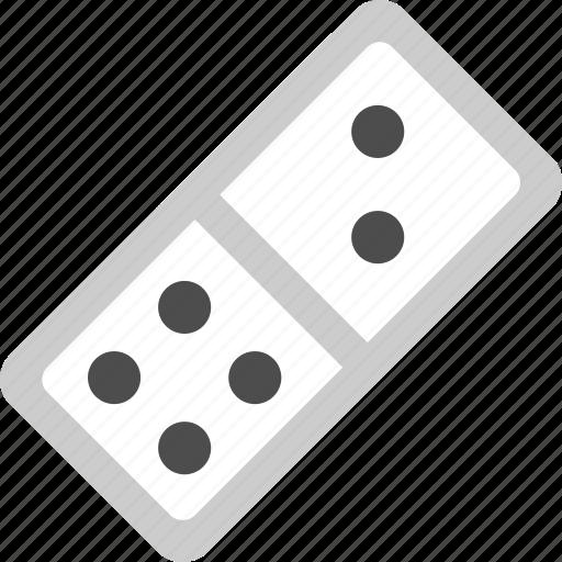 domino, domino brick, domino game, domino piece icon