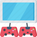 game, gamer, games, gaming, player, playing, two icon