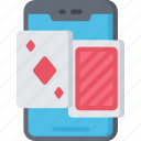card, game, games, gaming, mobile, phone, playing icon