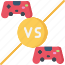 activities, gamer, games, gaming, player, playing, vs icon